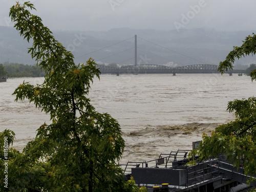 Aluminium Rivier flood 2013, linz, austria