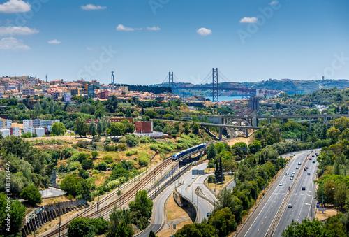 Foto op Plexiglas Kiev Lisbon city view II