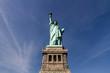 Freiheitsstatue frontale Ansicht, mit blauem Himmel, New York