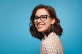 Smiling woman posing in glasses - 181365663