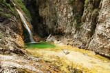 Waterfall at Soca River Source, Slovenia