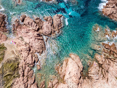 Staande foto Toscane Aerial view of tuscany coast and sea