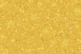 Gold glitter festive background, horizontal texture - 181372000