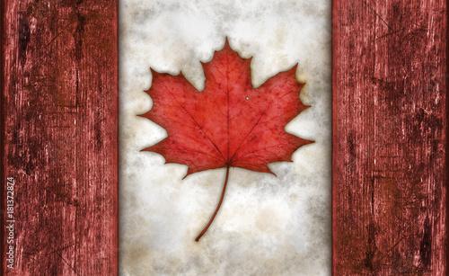 Aluminium Canada flagge von kanada