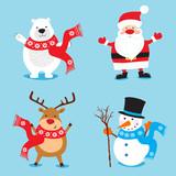 Christmas characters set  - 181377625