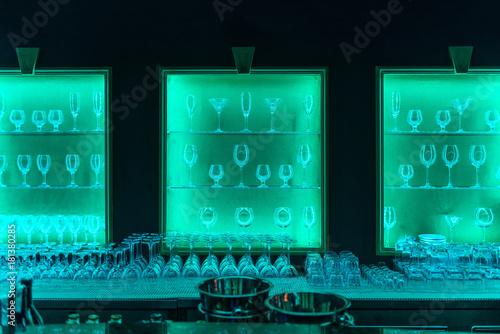 Glasses in bar Poster