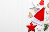 Vintage Christmas background with Christmas decoration. - 181383444