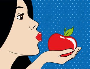 schneewittchen küsst roten apfel