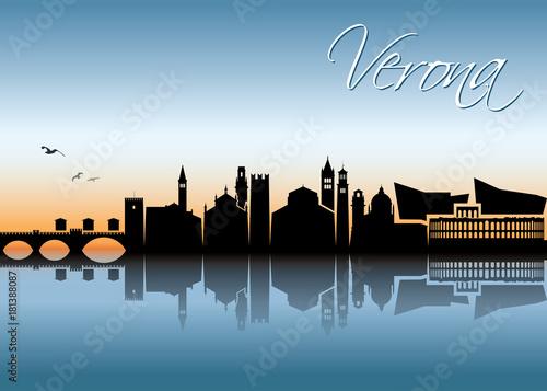 Poster Verona skyline - Italy