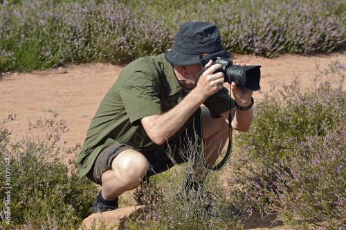 In de dag Zalm naturfotograf in der mehlinger heide