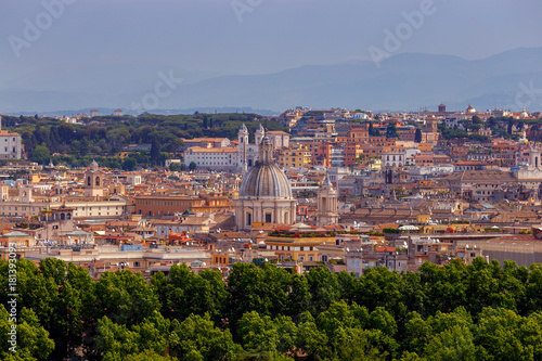 Rome. View of the city from the Aventine hill.
