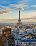 Aerial panoramic cityscape view of Paris, France