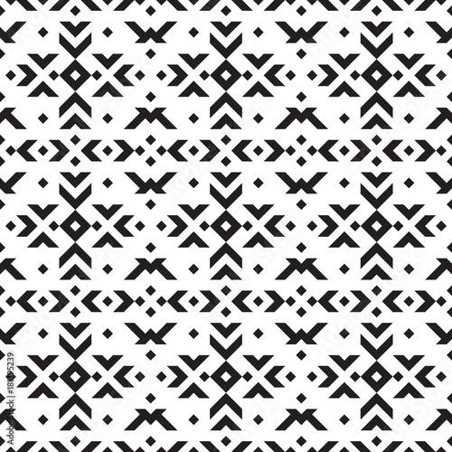 Tribal geometric seamless pattern. - 181395239