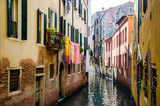 Typical canals of the city of Venice