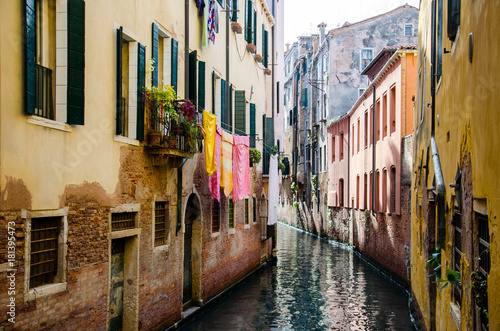 Deurstickers Venetie Typical canals of the city of Venice