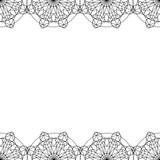 Decorative frame oriental ornament vector