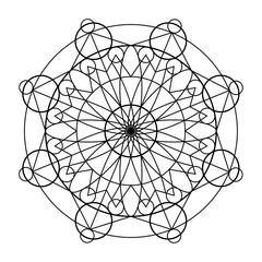 Geometric mandala oriental ornament ector