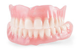 False teeth isolated - 181398421