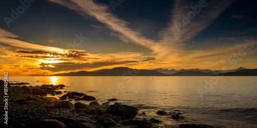 Deurstickers Zee zonsondergang beach sunset at vancouver