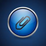 Push Button - Dark Blue Web Icon - 181414442