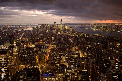 Foto op Aluminium New York New york city skyline sunset