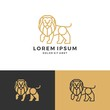 lion logo vector icon line art outline download