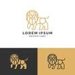 lion logo vector icon line art outline download