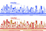 Futuristic City skylines at day and night - 181426293
