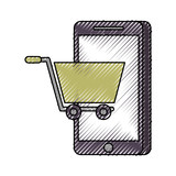 mobile phone shopping online technology digital vector illustration - 181431896