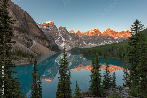 Canadian Rockies view at Moraine Lake in Banff National Park.  © lucky-photo