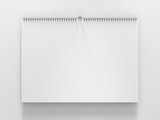 Blank design horizontal calendar template with soft shadows. 3D rendering - 181437432