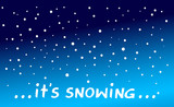 it is snowing - 181447090