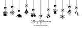 Weihnachten Icons von Oben - Schwarz - 181453062