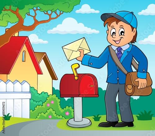 In de dag Voor kinderen Postman topic image 2