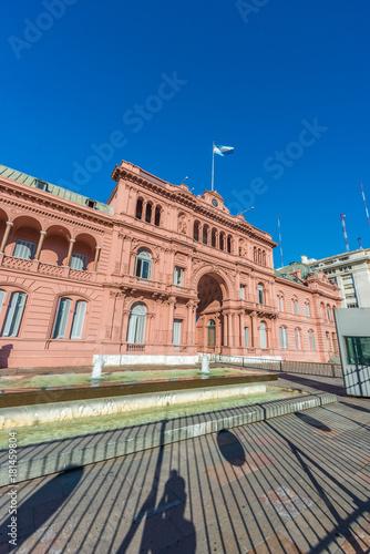 Plexiglas Buenos Aires Casa Rosada building in Buenos Aires, Argentina.