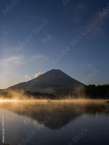 Poster Nachtblauw Mt Fuji Sunrise