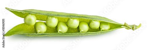 In de dag Verse groenten peas isolated on white background
