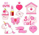 Cute little princess sticker collection