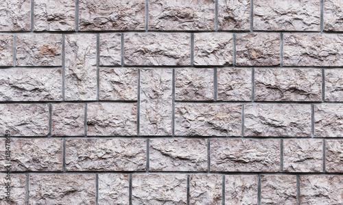 Tuinposter Baksteen muur Moderne Ziegelmauer / Steinmauer