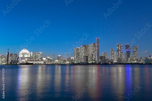 東京ベイエリア 高層ビル群と夜景