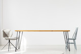 Dining room with long table - 181486876