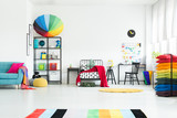 Spacious rainbow kid's bedroom - 181487017