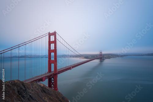 Golden Gate Bridge overlook near San Francisco Poster