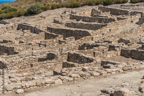 Ruins of ancient Kamiros on Rhodes island