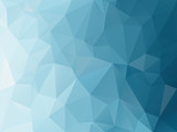 vector abstract irregular polygon background with a triangle pattern in blue turquoise color gradient - 181496221