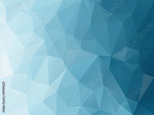 wektor abstrakcyjne tło nieregularne wielokąt z wzorem trójkąta w niebieskim turkusowym kolorze gradientu