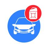 Car fuel vector icon.