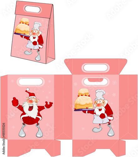 Papiers peints Chambre bébé Cute Santa Claus. Handbags Packages Pattern