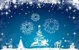 Weihnachtskarte Weihnachtsbaum - 181531835