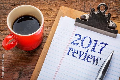 2017 review on blackboard on clipboard Poster